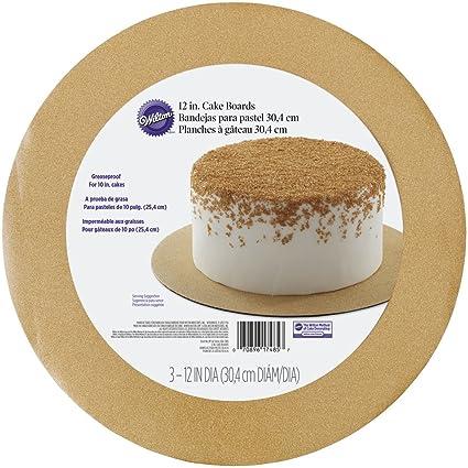 Wilton redondo bandejas para tartas con purpurina, oro, Pack de 3