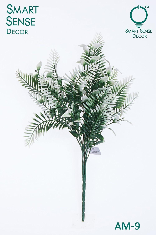 スマートSense人工ホワイトGrass Bush Bouquet Arrangements forホームキッチンリビングルームダイニングテーブルウェディングセンターピースデコレーション(ホワイト)のセット4 B078W91SK8