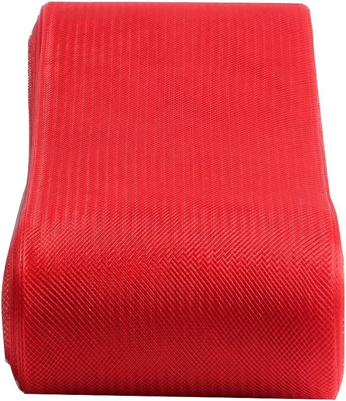 "Crinoline Trim 5 cm 2 yards Piece   2/"" Red Horsehair Braid"