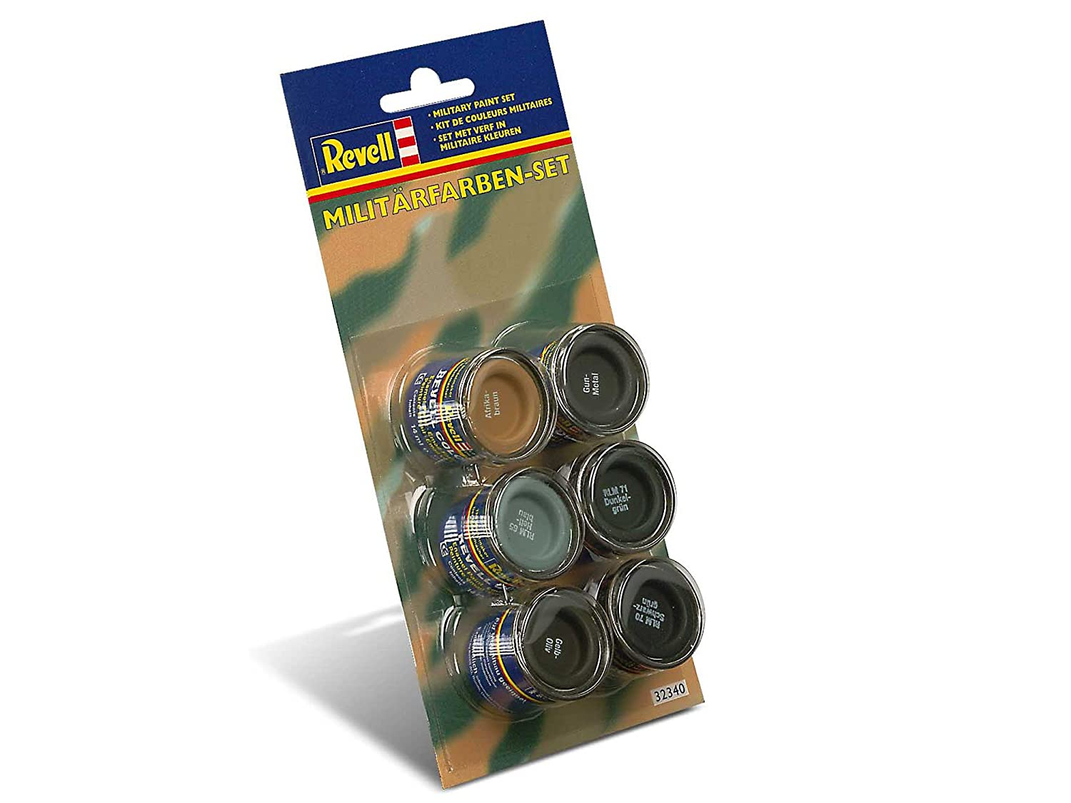 Revell Enamels 14ml 32340 Military Colour Paint Set: Amazon.co.uk: Toys U0026  Games