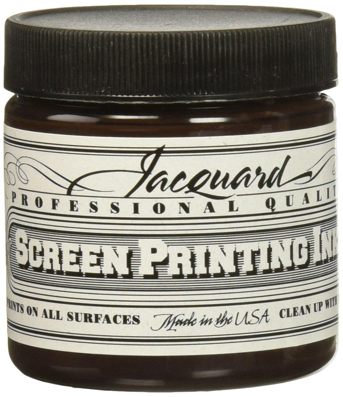 Jacquard JAC-JSI1116 Screen Printing Ink, 4 oz, Brown