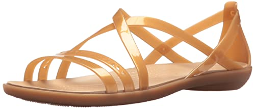4de19f44846b crocs Women s Isabella Cut Strappy W Dark or Gold Fashion Sandals-W11  (205149)