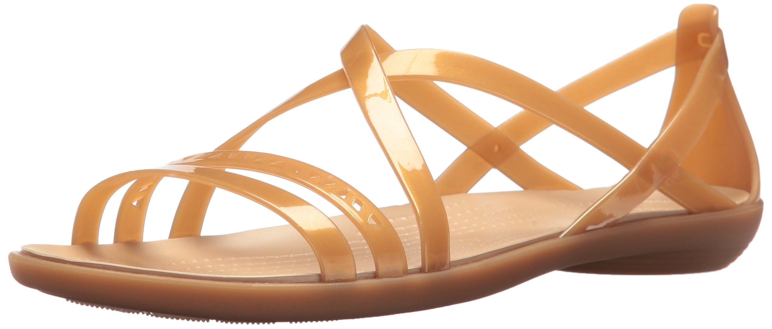 4ce97306ee2 Crocs Women s Isabella Cut Strappy W Flat Sandal