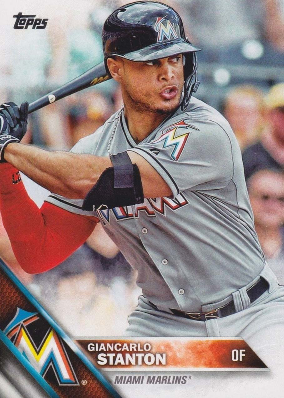 Miami Marlins 2016 Topps MLB Baseball Regular Issue Complete Mint 24 Card Team Set with Giancarlo Stanton Ichiro Suzuki Plus