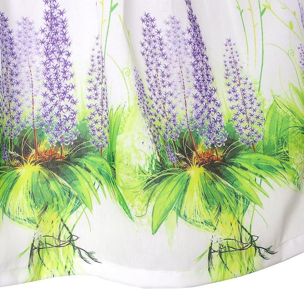 Sunny Fashion Robe Fille Tournesol Bubble Lis Fleur Jardin Imprimer