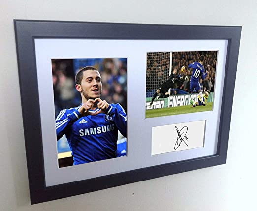 Conte-John Terry-Eden Hazard-Willian-Deigo Costa Chelsea Autographed Photo Photographed Picture Frame Football Gift Signed Soccer White Celebration Edition 2017 Premier League Win