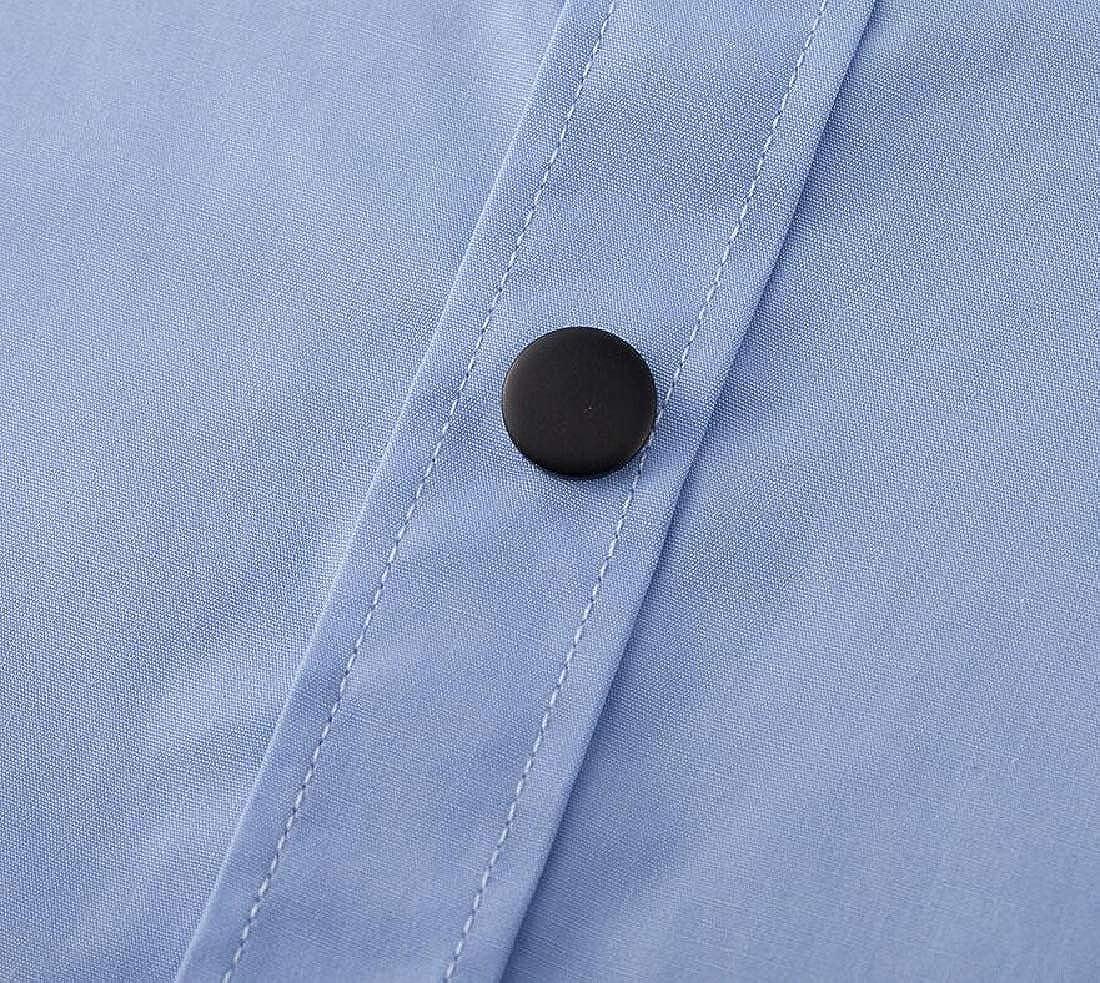 omniscient Men Business Bamboo Dress Shirt Long Sleeve Formal Shirt Solid Button Down Shirts