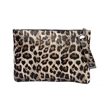261d8b65e944 Amazon.com : ❤ Sunbona Card Holder Wallet Handle Bag Leopard ...