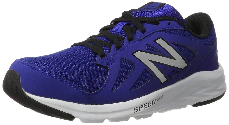 New Balance Men's M490V4 Running schuhe-M, Blau Silber, 9.5 4E US
