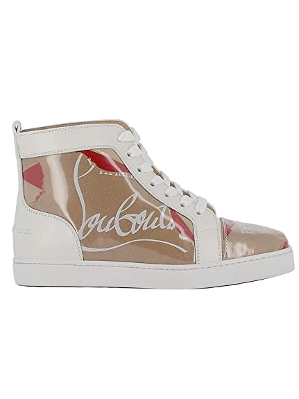 wholesale dealer 9e1af 6b003 Christian Louboutin Women's 3180009F245 White Leather Hi Top ...