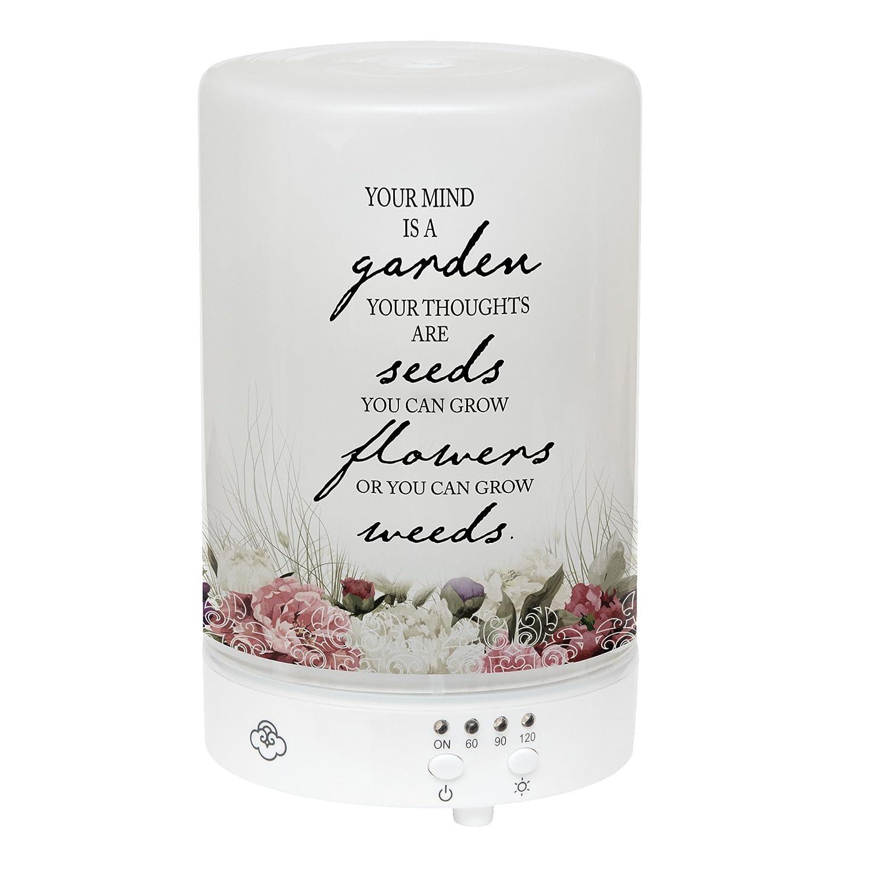 Elanze Designs Your Mind a Garden Grow Flowers フロストガラス 8色LEDライトエッセンシャルオイルディフューザー B07F7K7Z4F
