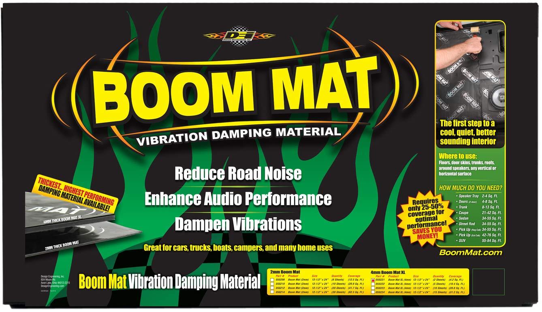 Design Engineering 050224 Boom Mat XL 4mm Damping Material 15 Sheets 12.5 x 24