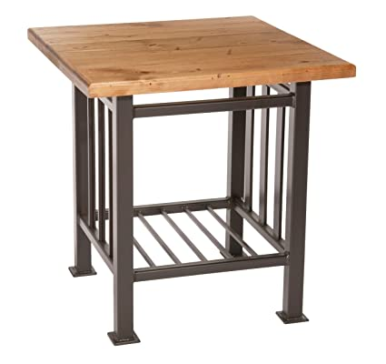 Merveilleux Mission Side Table, Distressed Pine