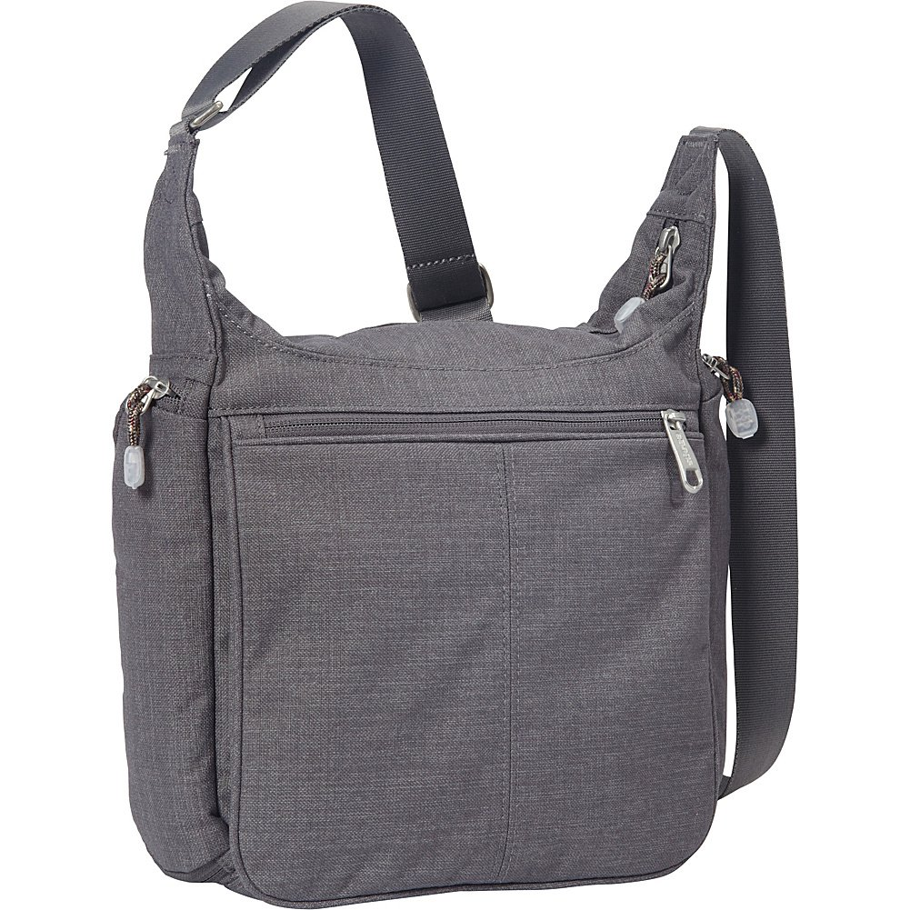 eBags Piazza Daybag 2.0 with RFID Security - Small Satchel Crossbody for Travel, Work, Business - (Brushed Graphite)