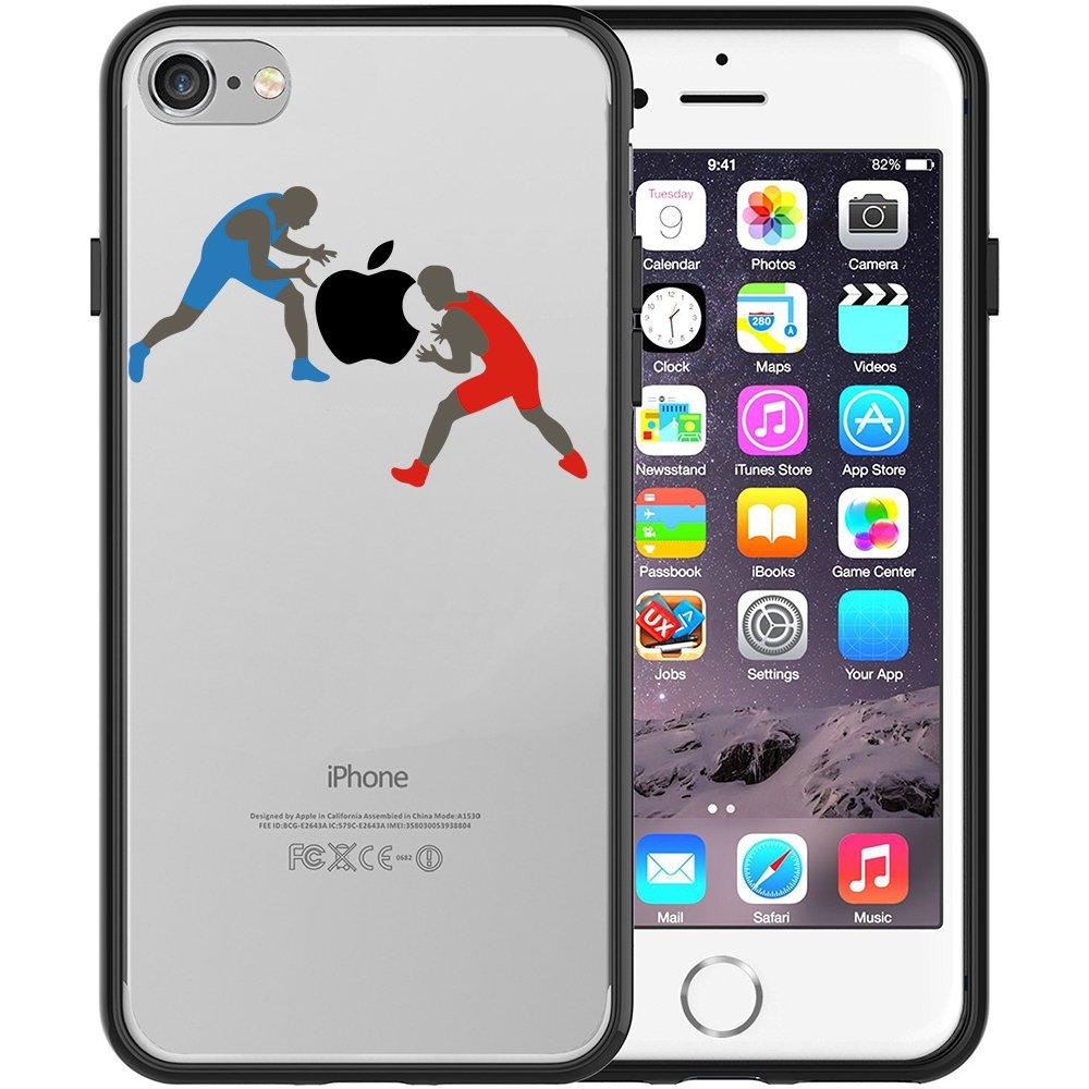 Funda iPhone 7, TrendyBox Transparente Negro Funda para iPhone 7 ...