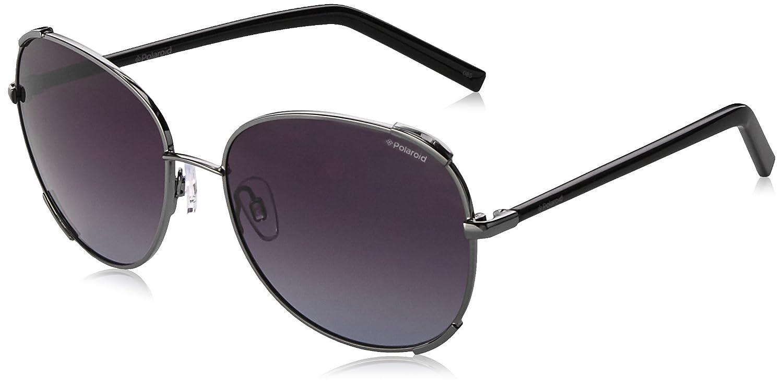 7a0edd447fc5 Amazon.com  Polaroid Sunglasses Women s Pld4025s Oval Sunglasses ...