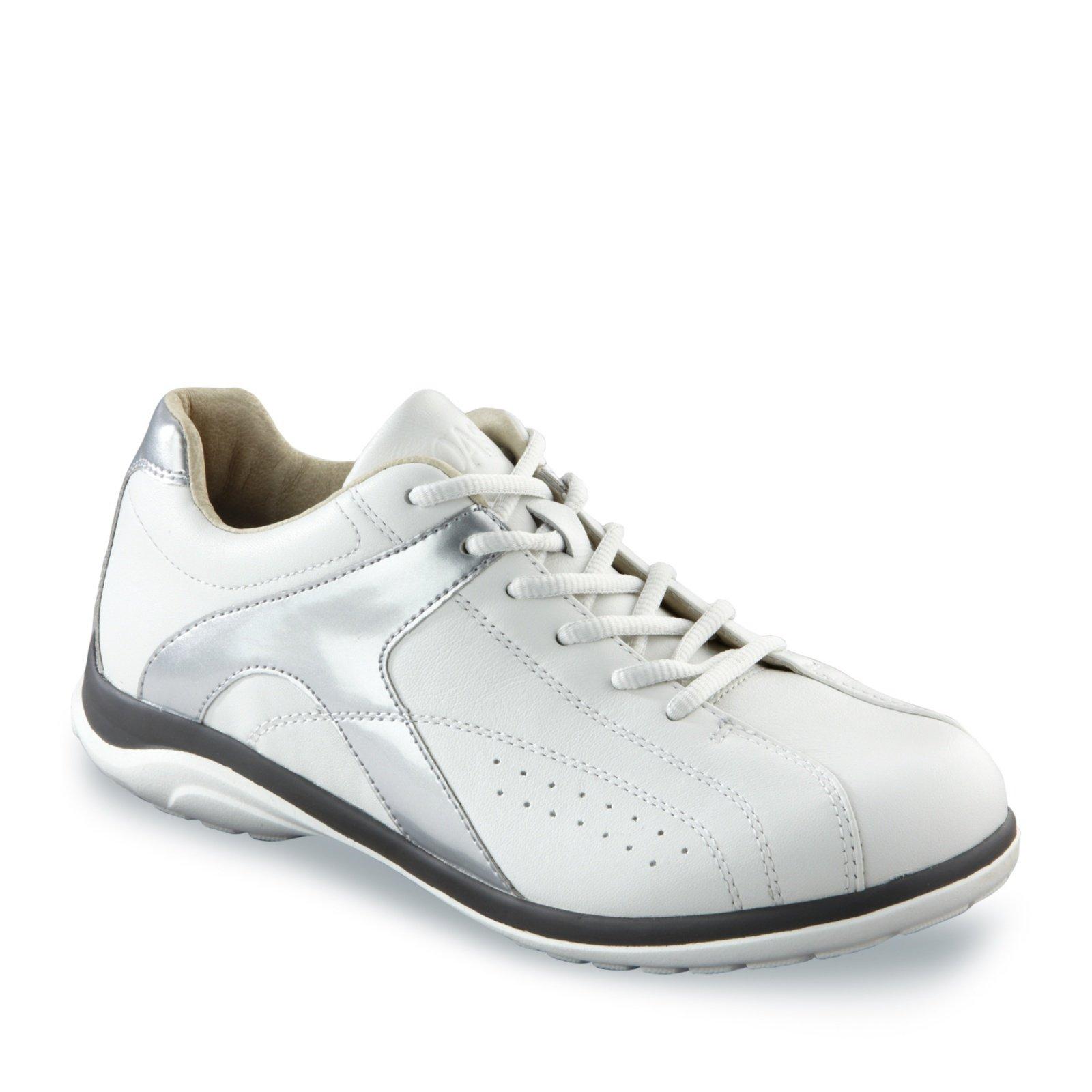 Oasis Women's Chrissie Lace-Up Shoes, White/Silver, 7 M/C-D