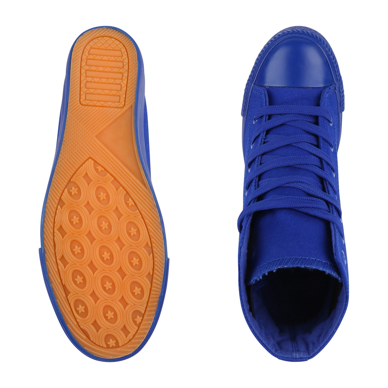 schuhe VITA Damen Sneaker Wedges Blau mit Keilabsatz Basic Blau Wedges 771452
