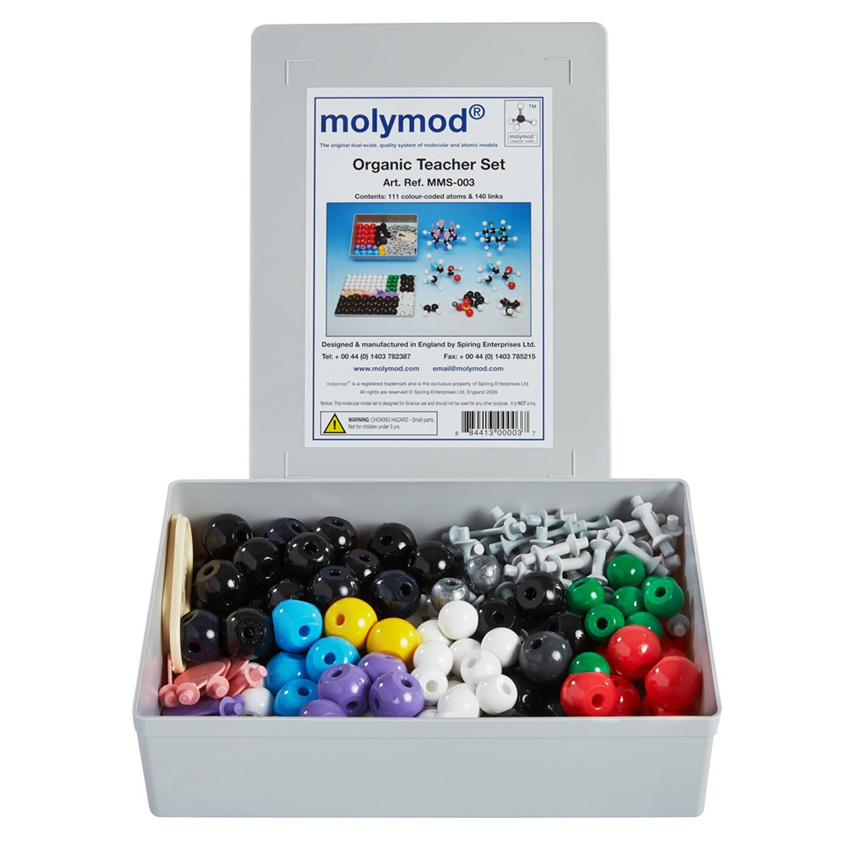 Molymod MMS-003 Organic Chemistry Molecular Model, Teacher Set (111 atom parts)