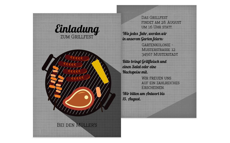 Einladung Sommerfest Grillsaison, 60 Karten, MattBlau B073H4TK1M   Discount        Zu einem erschwinglichen Preis    Perfekte Verarbeitung  36ef27