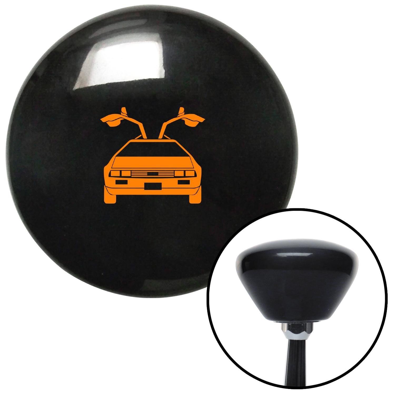 Orange Delorean Black Retro with M16 x 1.5 Insert American Shifter 281355 Shift Knob