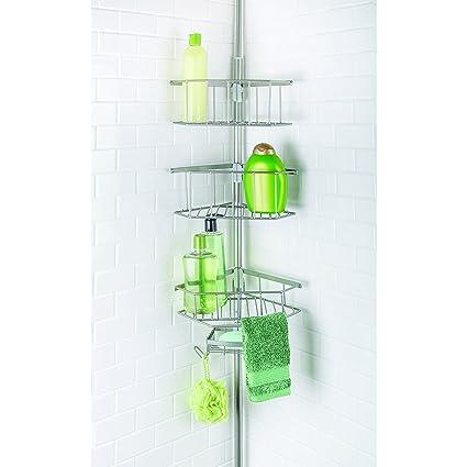 Amazon.com: Richards Homewares Laguna Bathtub Shower Tension Corner ...