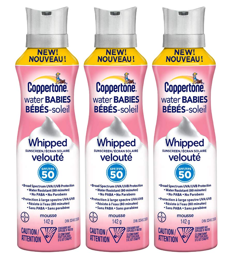 Coppertone Water Babies Whipped Sunscreen SPF 50, 5 oz (Pack Of 3) by Coppertone