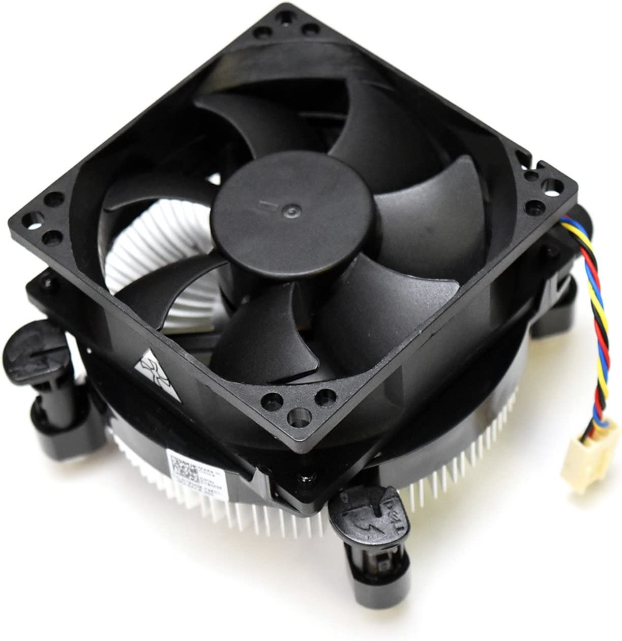 New Genuine Dell Inspiron 580/580s XPS 8000 8100 MNTW/SLTW G6950 73W Processor Y9M35 Pushpin Heatsink Fan Assembly 73W CPU Thermal Cooling 4-Pin 4-Wire Cable R/Y/BLU/BLK JPM3M PGC17 7F2KK