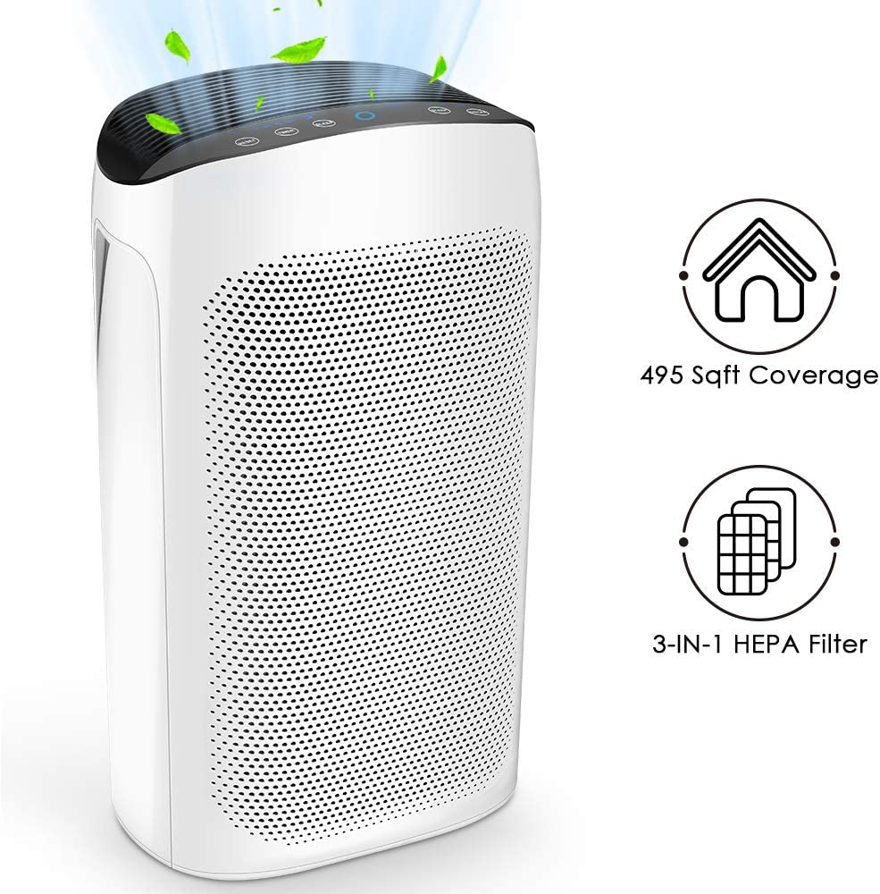 Air Choice Air Purifiers for Large Room - True HEPA Filter Air Purifier for Home, Air Cleaner for Allergies and Pet Hair, Pollen, Dust, Odors, Fumes and Fire Smoke