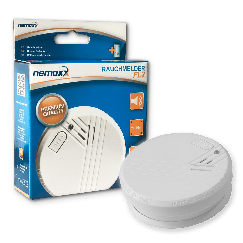 6X Nemaxx Detector de Humo FL2 - según la Norma EN 14604 con tecnología fotoeléctrica Sensible e inalámbrica!: Amazon.es: Bricolaje y herramientas