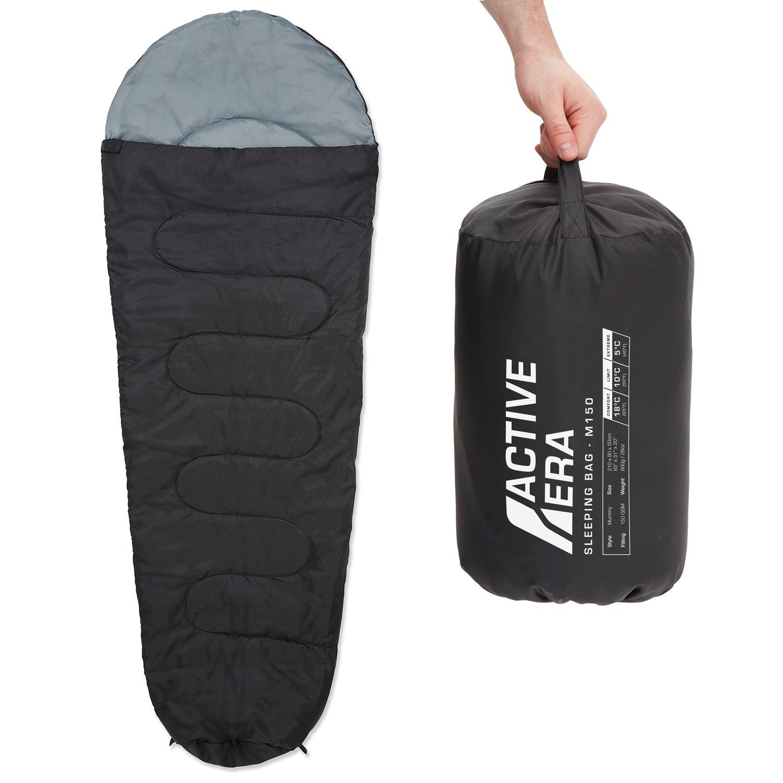 Active Era- Saco de dormir tipo momia, ligero, Negro product image