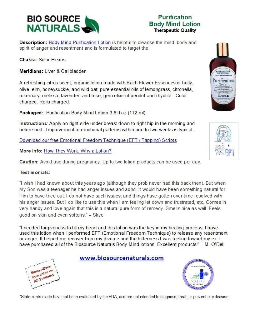 4 Pack- Body Mind Vibrational Remedy Lotion 3.8 fl oz Each - Made with Bach Flower Essences, Gem Elixirs and Pure Essential Oils Essences: Open Heart, Purification, Courage and Clarity, Stress Relief