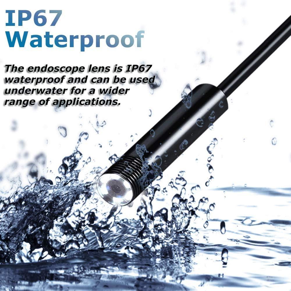 WangT 8 5 Mm Kabellose Schlangenkamera 5 0-Megapixel-HD-Endoskop IP67 wasserdichte Inspektionskamera F/ür Die Industrielle Sanit/ärreparatur,Softwire-30M