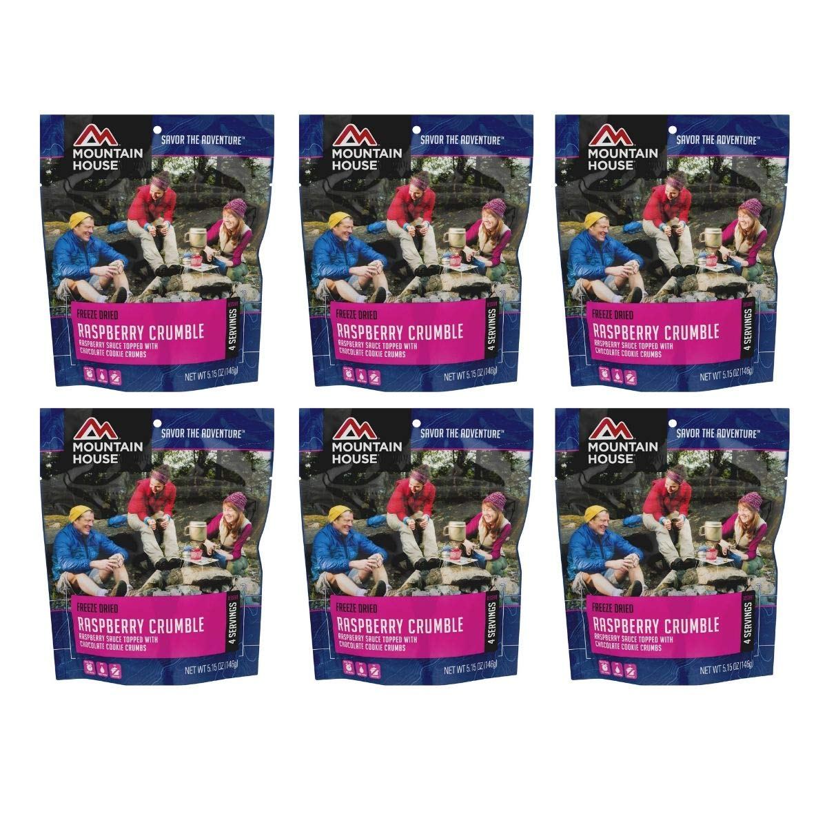 Mountain House Freeze Dried Raspberry Crumble, 5.15 OZ (Pack of 6)