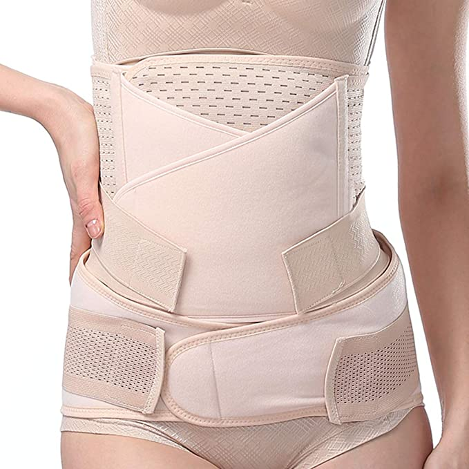 Postpartum Belly Wraps, 3 in 1 Breathable Post Pregnancy Belly Bands C-Section Recovery Shapewear