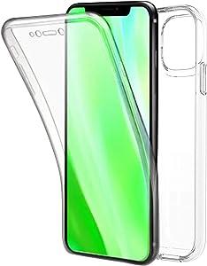 TBOC Funda para Apple iPhone 11 Pro MAX [6.5 Pulgadas] - Carcasa [Transparente] Completa [Silicona TPU] Doble Cara [360 Grados] Protección Integral Total Delantera Trasera Lateral Móvil