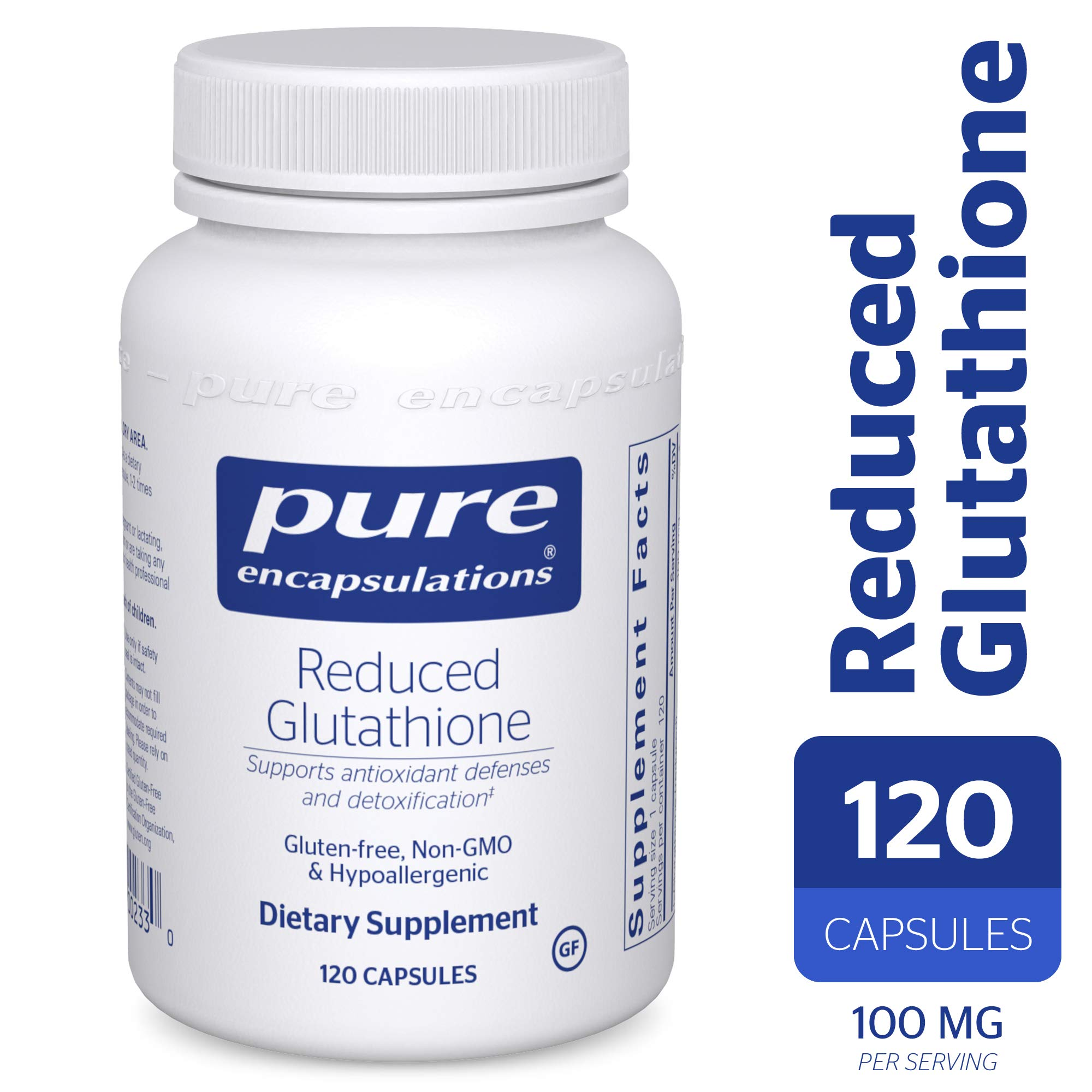 Pure Encapsulations - Reduced Glutathione - Hypoallergenic Antioxidant Supplement for Cell Health and Liver Function* - 120 Capsules by Pure Encapsulations