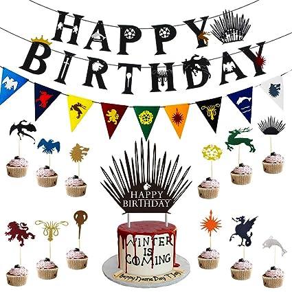 Juego de Tronos, pancartas de cumpleaños, decoración de ...