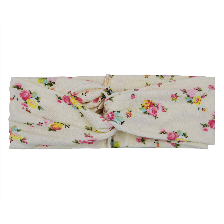 WinCret Fascia Capelli Donna Vintage Flower stampato Criss Cross annodato fascia elastica per capelli
