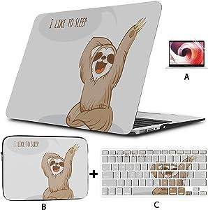 MacBook Protective Case Lovely Cartoon Sloth MacBook Pro Retina Case Hard Shell Mac Air 11