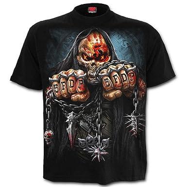Spiral Unisex Metal T Shirt Five Finger Death Punch Game Over Skull