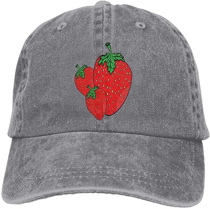 Dama Home Tres Fresas Rojas Impresas Gorras de béisbol ...