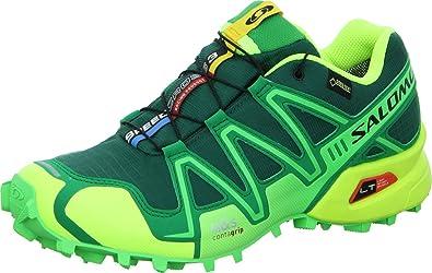 SALOMON Speedcross 3 GTX Zapatilla de Trail Running Caballero, Verde/Amarillo, 46: Amazon.es: Zapatos y complementos