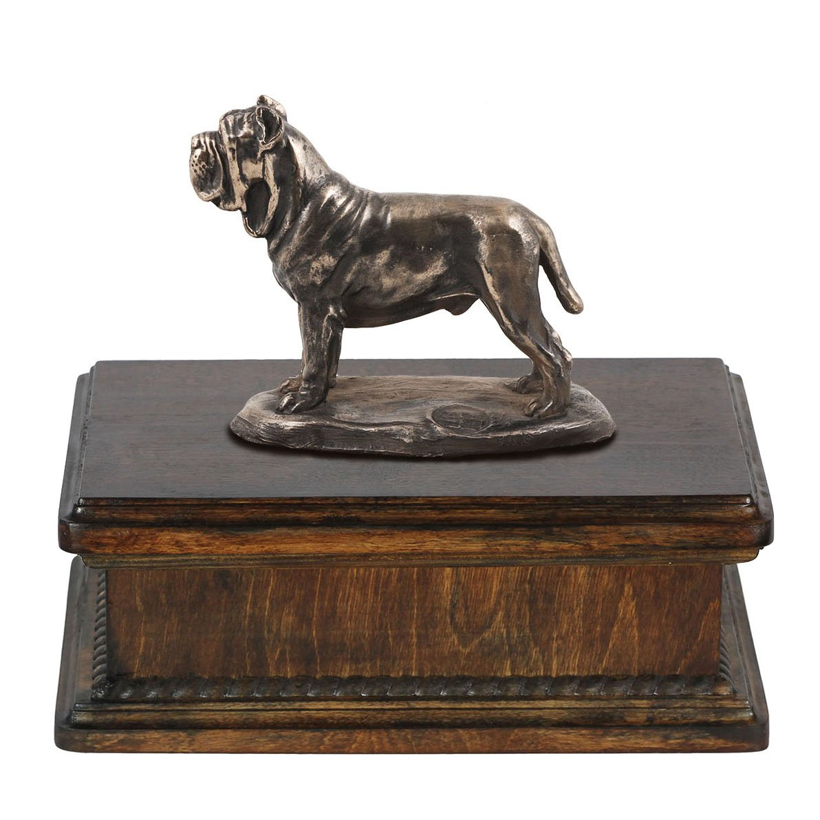 Mastino Neapolitan, memorial, urn for dog's ashes, with dog statue, exclusive, ArtDog
