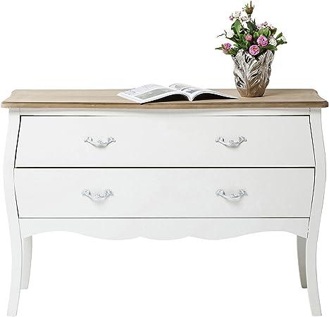 Commode Romantic Blanche 120cm Kare Design Amazon Fr
