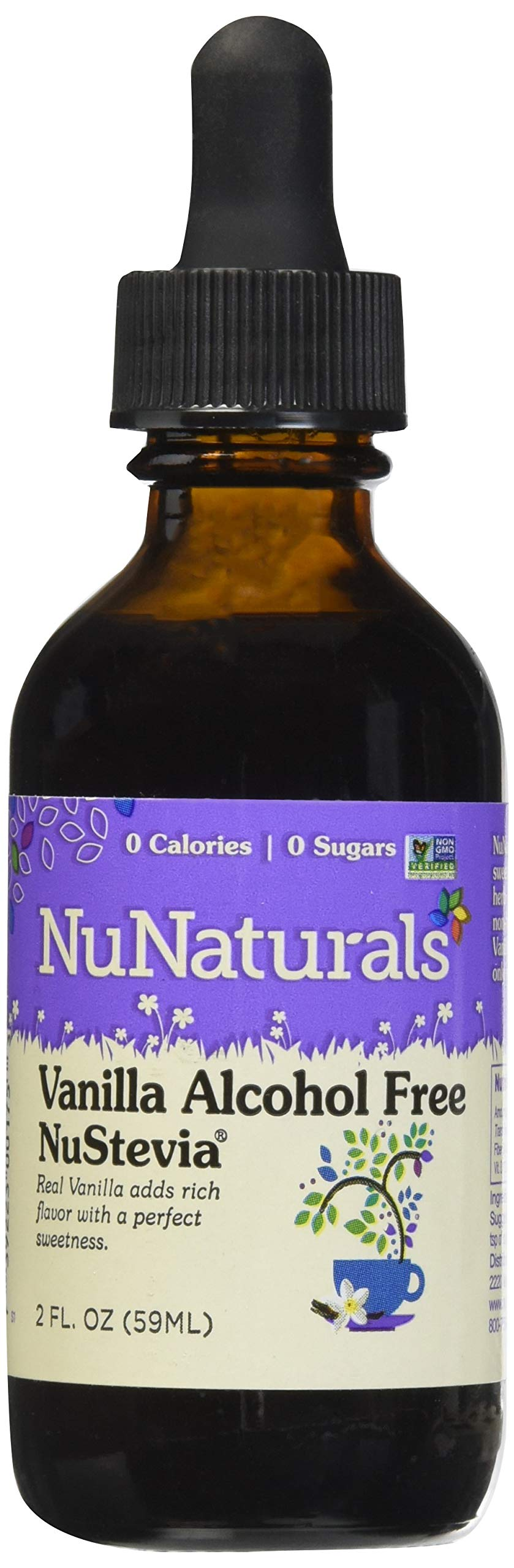 NuNaturals – NuStevia – Liquid Vanilla Stevia – Alcohol Free – 2 Ounce