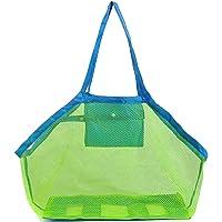 GeekerChip Bolsa Plegable de Malla de Playa,Juguetes de Bolsa de Almacenamiento para al Aire Libre Natación Piscina…