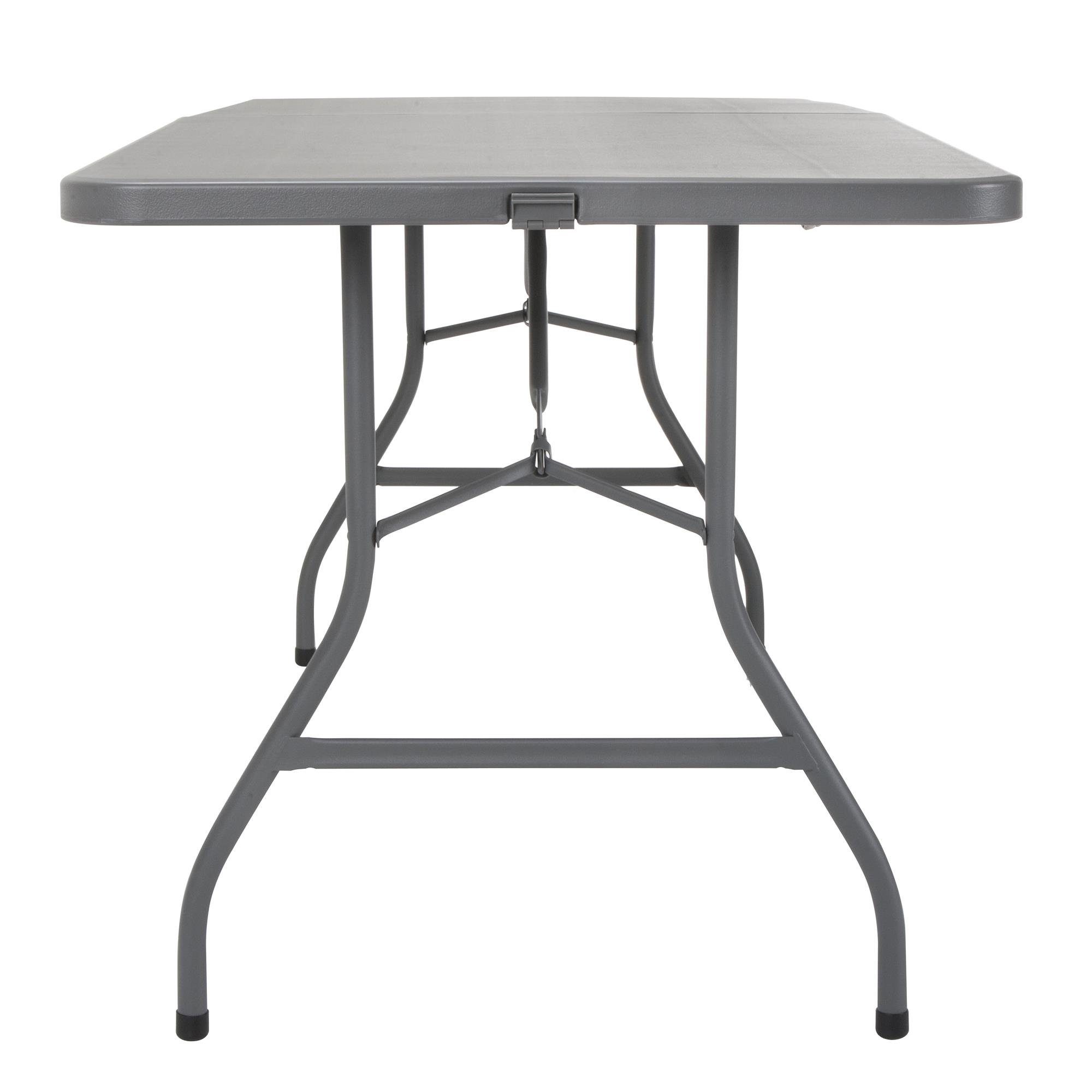 Cosco 6' Signature Series Blow Mold Centerfold Table, Gray by Cosco (Image #8)