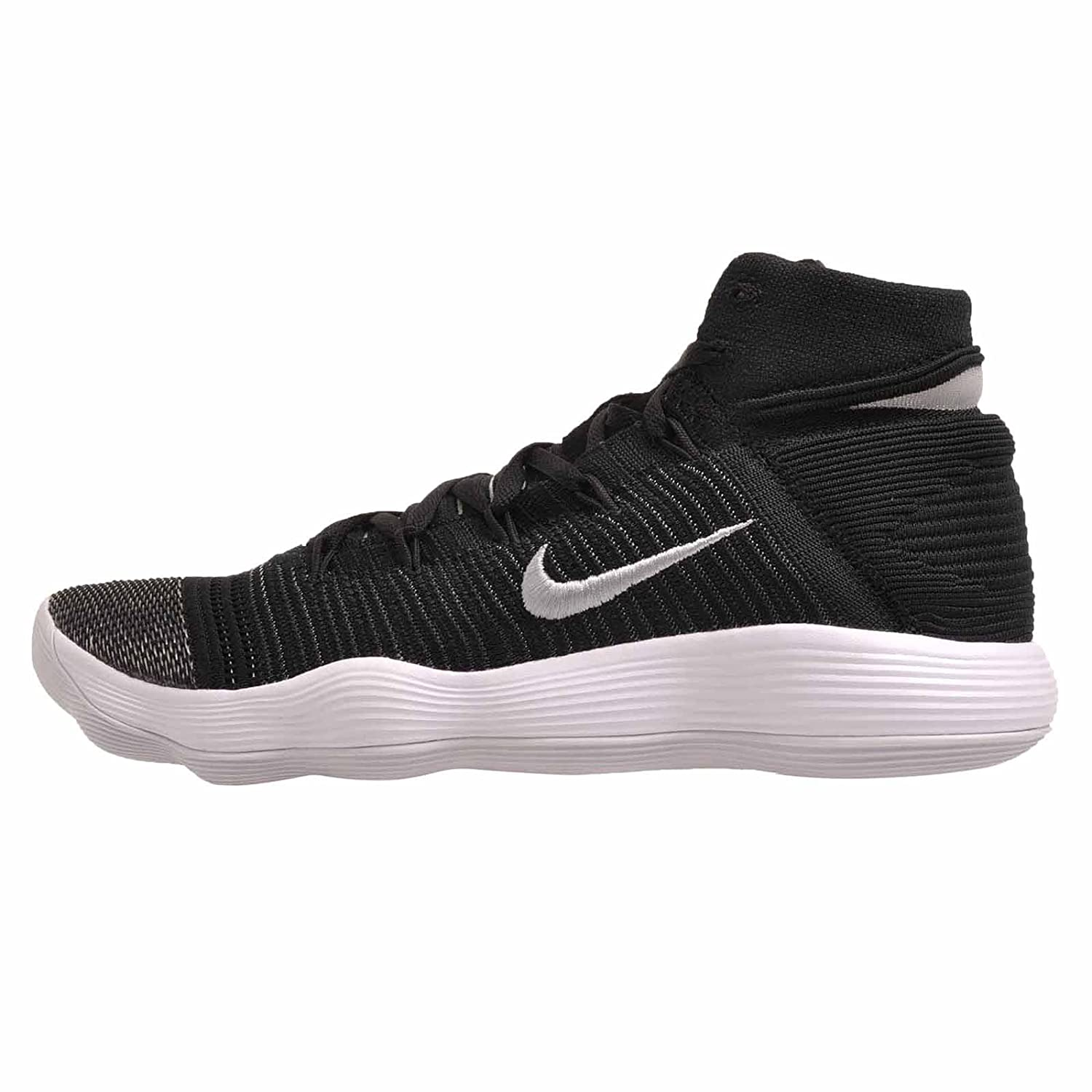 53d74a2dc11f Nike Hyperdunk 2017 Flyknit Size 11.5 Mens Basketball Shoe Black Metallic  Silver Shoes  Buy Online at Low Prices in India - Amazon.in