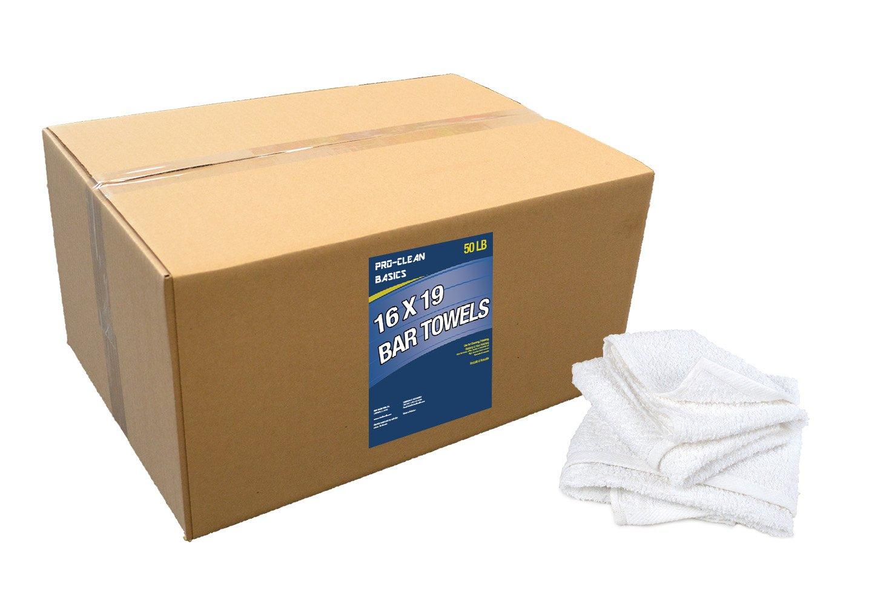 Pro-Clean Basics A51757 Bar Towels, 50 lb. Box, 16'' x 19''